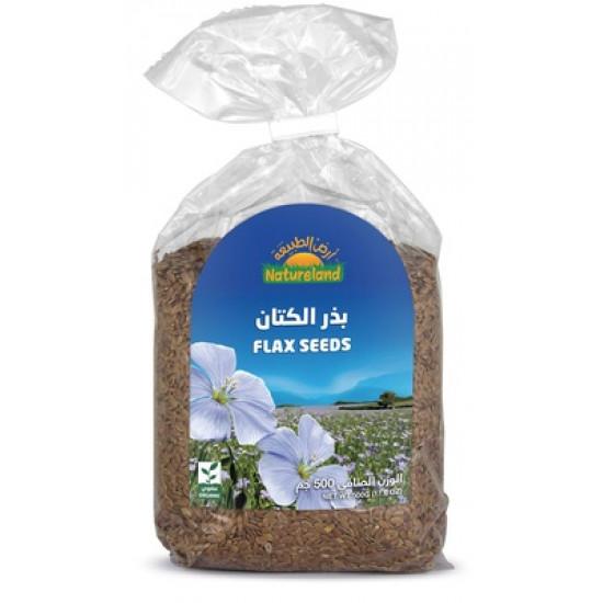 Natureland brown Flax Seeds 500g