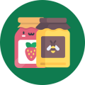 Organic fruit jams