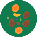 Dried fruits and nuts
