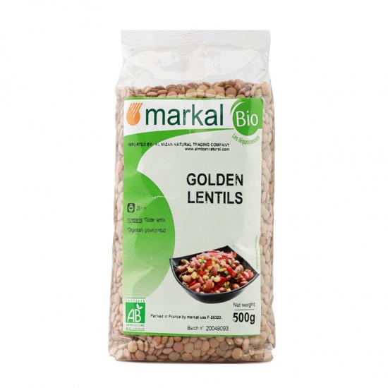 MARKAL 500GM ORGANIC GOLDEN LENTILS